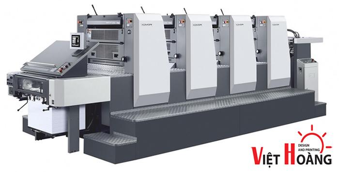 In Việt Hoàng hiện đang sở hữu nhiều máy móc hiện đại trong nghành in