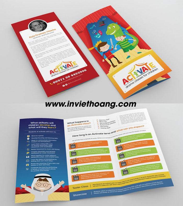 Mẫu brochure đẹp tại In Việt Hoàng