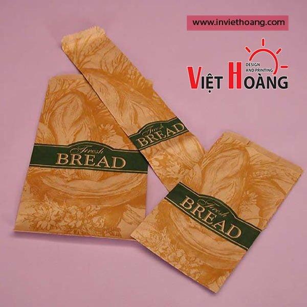 Mẫu túi giấy đựng bánh mì đẹp