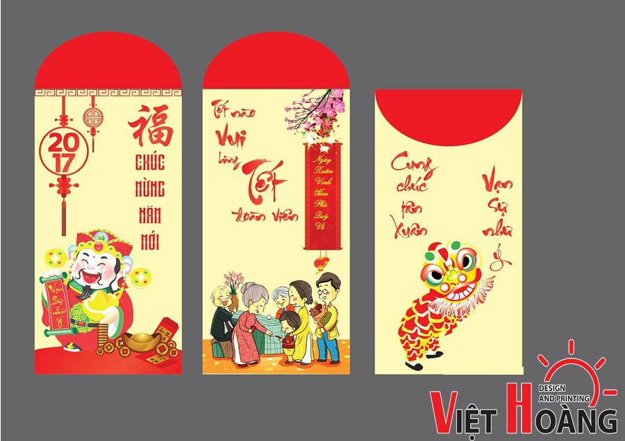 In bao lì xì đẹp tại In Việt Hoàng