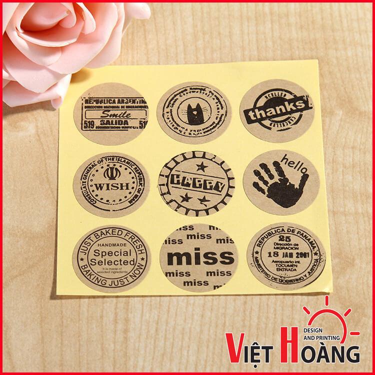 In tem vỡ đẹp tại In Việt Hoàng