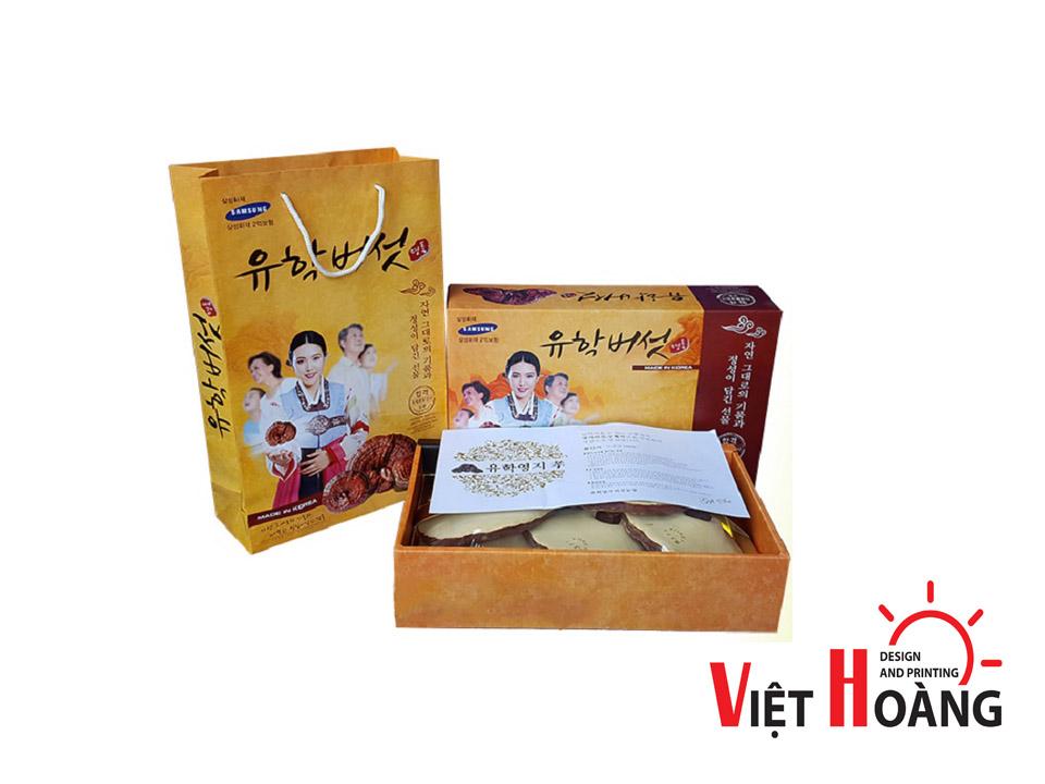 <em>Mẫu hộp giấy đựng nấm linh chi - In Việt Hoàng</em>