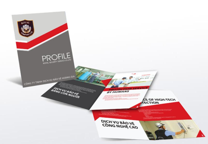 Brochure công ty ấn tượng sẽ thu hút ở cái nhìn đầu tiên